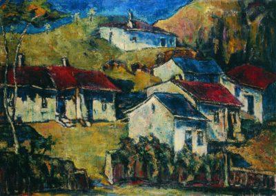 Sat vechi in Dobrogea, uc 50x70 cm
