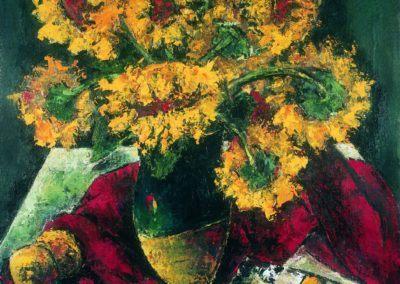 Natura moarta cu floarea soarelui, up 61x50 cm