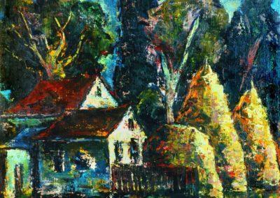 Peisaj din Suceava, upc 50x61 cm