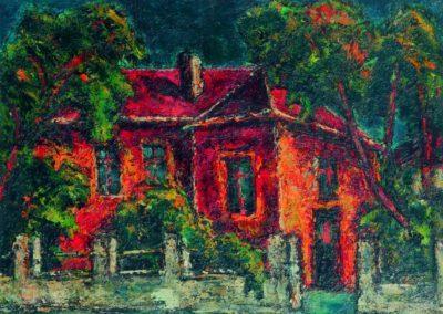 Casa rosie din Sofia, up 36x48 cm