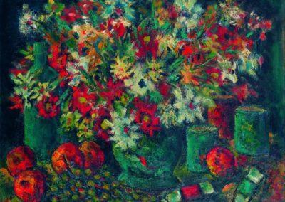 Natura moarta cu flori de camp, uc 50x61 cm