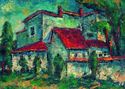 Casele din str. Raneti, up 33x40 cm