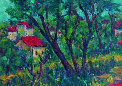 Peisaj pe Valea Oltului, up 40x45 cm