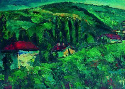 Peisaj spre Dragoslavele, uc 36x48 cm