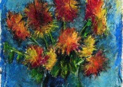7 Crizanteme de la Sterianu, uc 48x36 cm