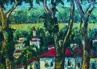 Vedere spre Orsova, uc 61x50 cm