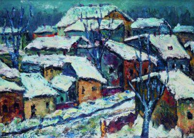 Iarna pe strada Mihai Bravu, Braila