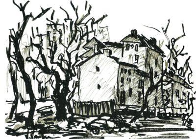 Peisaj in Cotroceni (schita)
