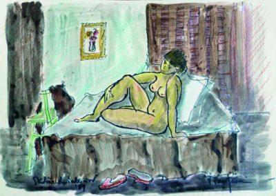 Nud pe canapea (Studiu de interior)