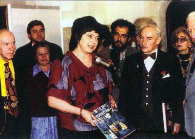 Vernisajul expozitiei Vasile Parizescu la Muzeul National Cotroceni, 1995.