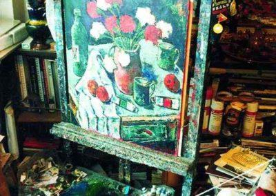 In atelierul pictorului Vasile Parizescu