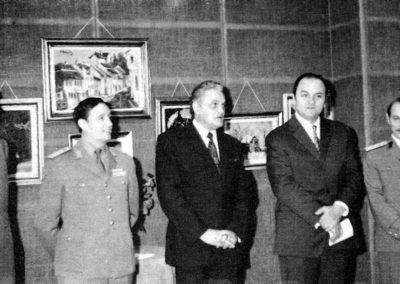 pag 142 Vernisajul expozitiei personale din 1974, la Cercul Miltar National