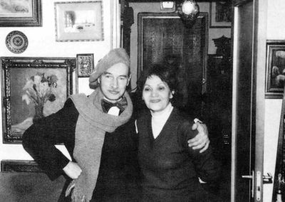 De Sf. Vasile, in 1987, impreuna cu sotia