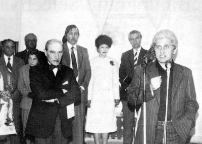 Vernisajul expozitiei personale din 1987 la Galeriile din Braila;