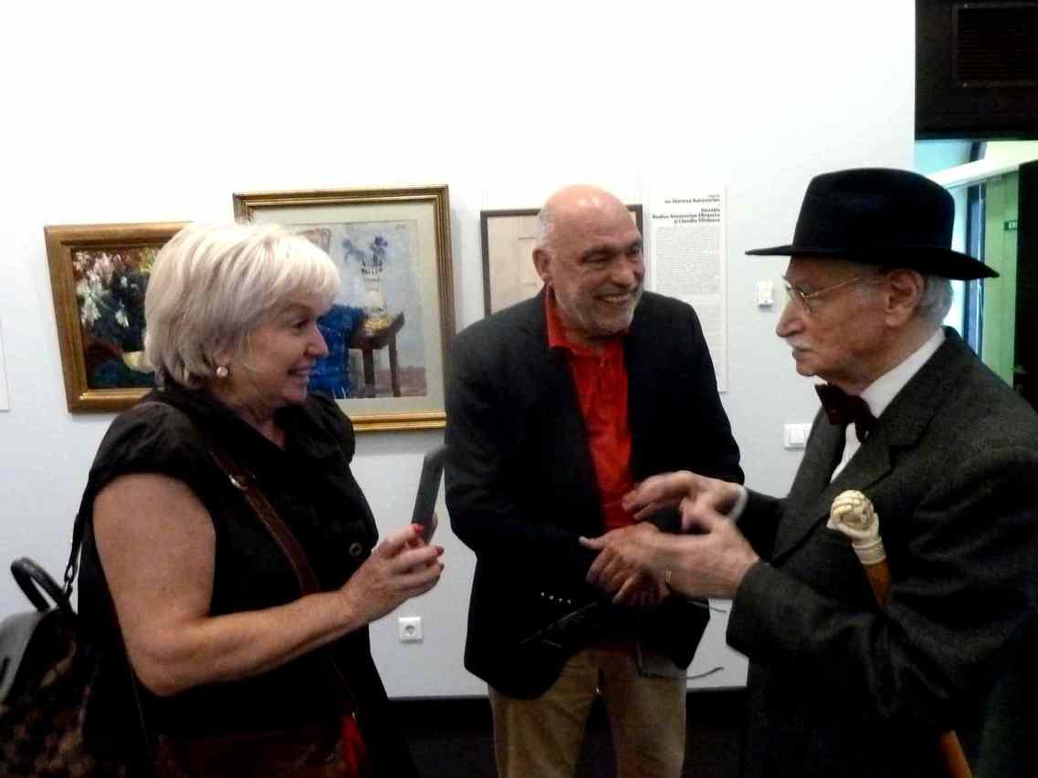 Colectionarii dr. Chiricuta jr. si gral. Vasile Parizescu la Muzeul Colectiilor de Arta in 21 sept 2018